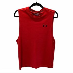 Under Armour Red Sleeveless Tank Top